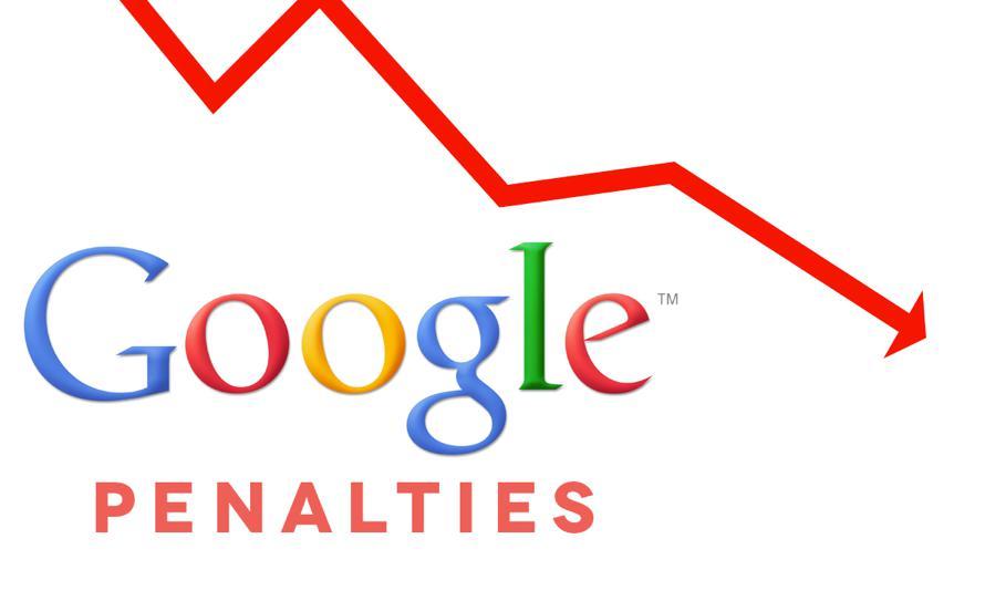Hình phạt của Google với những lỗi vi phạm – nguồn Internet