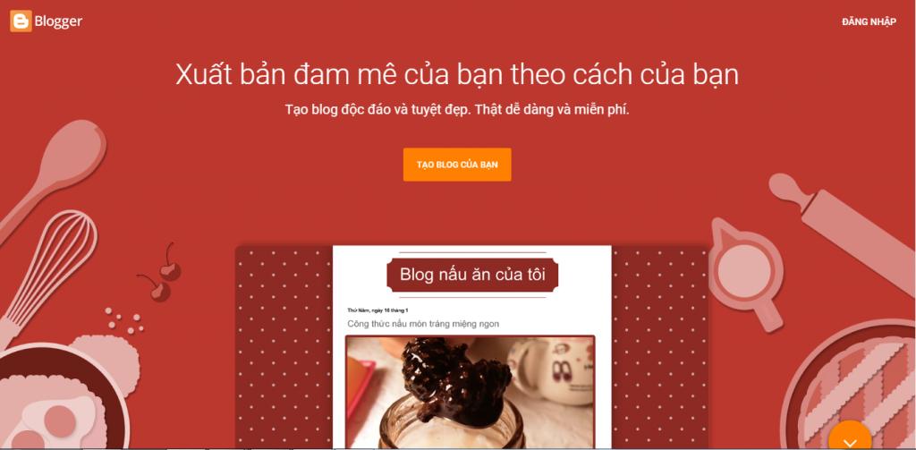 Tạo trang Blog cá nhân