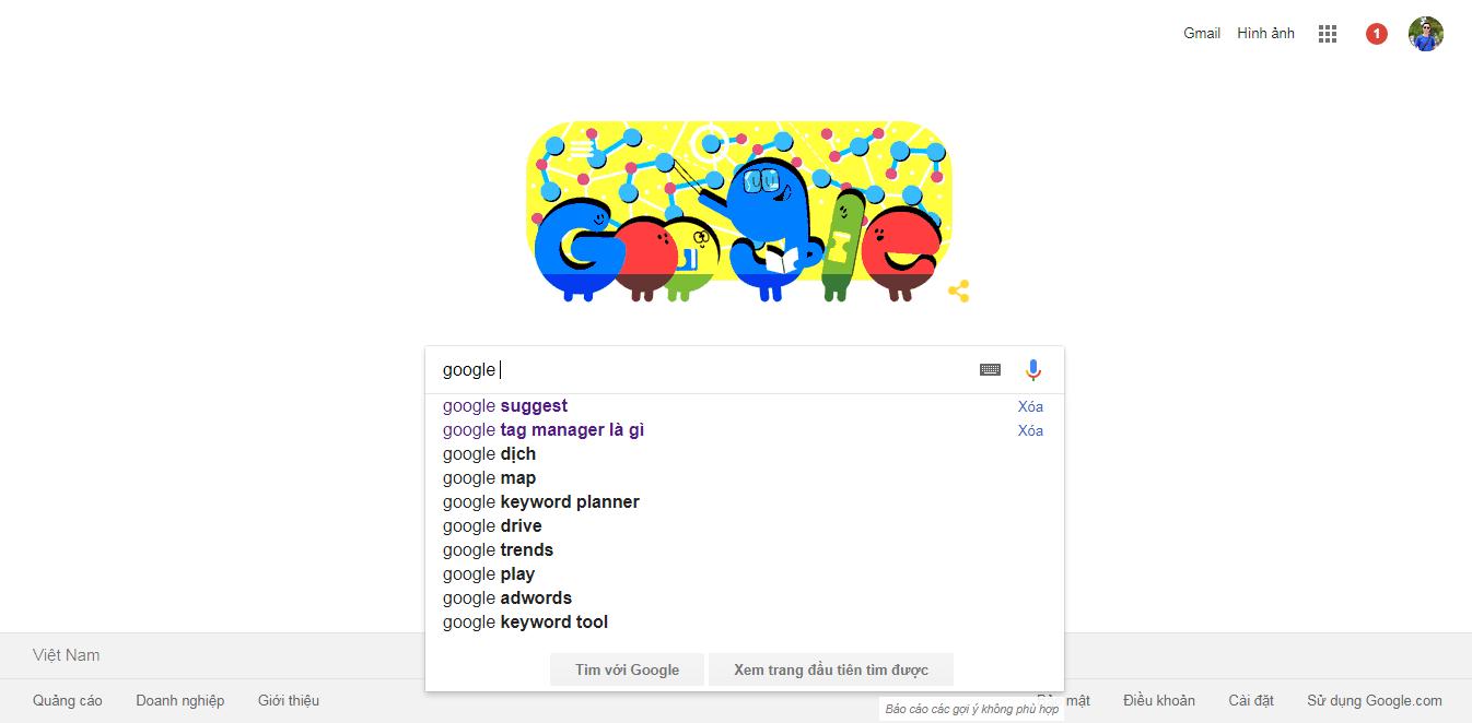 sử dụng Google suggest nghiên cứu từ khóa dài
