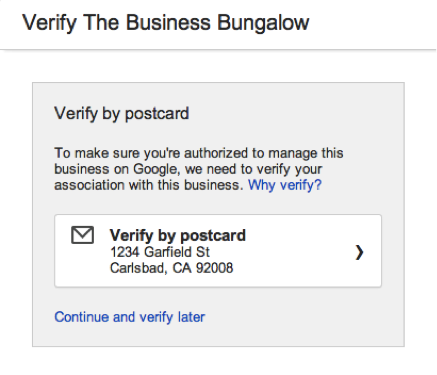 google verify the business